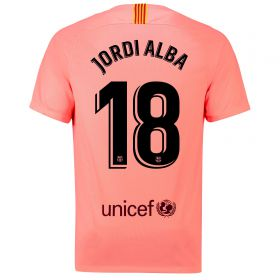 Barcelona Third Vapor Match Shirt 2018-19 with Jordi Alba 18 printing