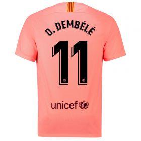 Barcelona Third Vapor Match Shirt 2018-19 with O. Dembélé 11 printing