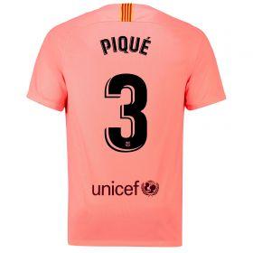 Barcelona Third Vapor Match Shirt 2018-19 with Piqué 3 printing