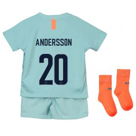 Chelsea Third Cup Stadium Kit 2018-19 - Infants with Andersson 20 printing