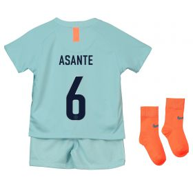 Chelsea Third Cup Stadium Kit 2018-19 - Infants with Asante 6 printing
