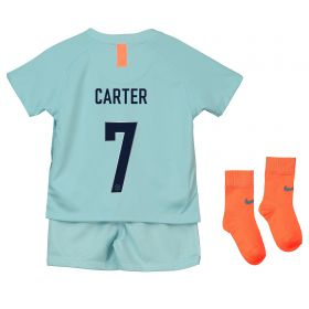 Chelsea Third Cup Stadium Kit 2018-19 - Infants with Carter 7 printing