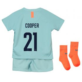Chelsea Third Cup Stadium Kit 2018-19 - Infants with Cooper 21 printing