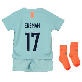 Chelsea Third Cup Stadium Kit 2018-19 - Infants with Engman 17 printing