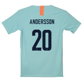 Chelsea Third Cup Stadium Shirt 2018-19 - Kids with Andersson 20 printing