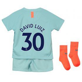 Chelsea Third Stadium Kit 2018-19 - Infants with David Luiz 30 printing