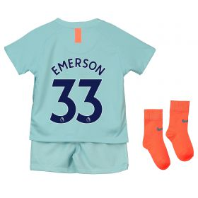 Chelsea Third Stadium Kit 2018-19 - Infants with Emerson 33 printing