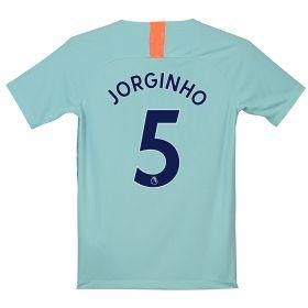 Chelsea Third Stadium Shirt 2018-19 - Kids with Jorginho 5 printing