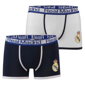 Real Madrid 2Pk Crest Boxer Shorts - Navy/White - Mens