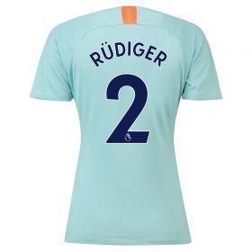 Chelsea Third Stadium Shirt 2018-19 - Womens with Rüdiger 2 printing