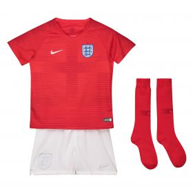 England Away Stadium Kit 2018 - Infants with Henderson 8 printing