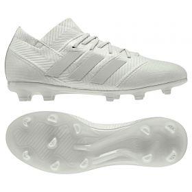 adidas Nemeziz 18.1 Firm Ground Football Boots - Silver - Kids