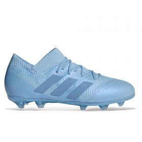 adidas Nemeziz Messi 18.1 Firm Ground Football Boots - Blue - Kids