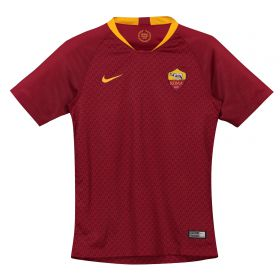 AS Roma Home Stadium Shirt 2018-19 - Kids with De Rossi 16 printing