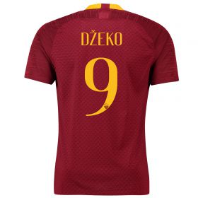 AS Roma Home Stadium Shirt 2018-19 with Džeko 9 printing