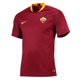 AS Roma Home Stadium Shirt 2018-19 with Kluivert 34 printing