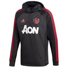 Manchester United Training Warm Top - Black