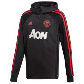 Manchester United Training Warm Top - Black - Kids