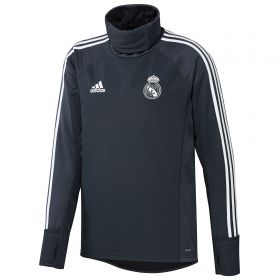 Real Madrid Training Warm Top - Dark Grey