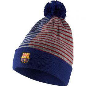 Barcelona Stripe Beanie - Royal Blue