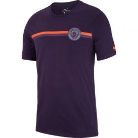 Manchester City Crest T-Shirt - Purple