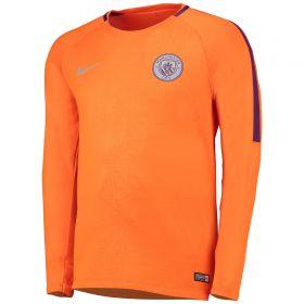 Manchester City Pre Match Top - Orange - Long Sleeve