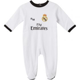 Real Madrid Home Kit Sleepsuit - White - Baby