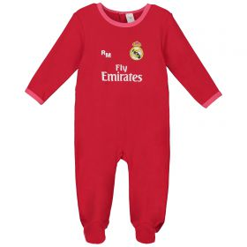 Real Madrid Third Kit Sleepsuit - Coral - Baby
