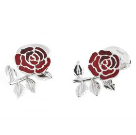 England Rose & Rugby Ball Cufflinks