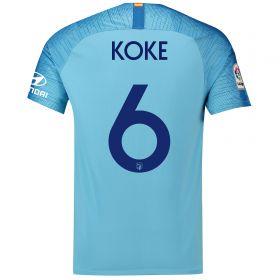 Atlético de Madrid Away Cup Stadium Shirt 2018-19 with Koke 6 printing