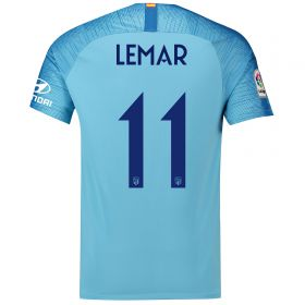 Atlético de Madrid Away Cup Stadium Shirt 2018-19 with Lemar 11 printing