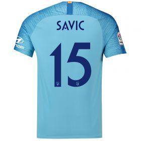 Atlético de Madrid Away Cup Stadium Shirt 2018-19 with Savic 15 printing