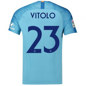 Atlético de Madrid Away Cup Stadium Shirt 2018-19 with Vitolo 23 printing