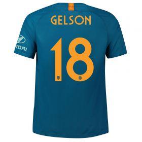 Atlético de Madrid Third Cup La Liga Stadium Shirt 2018-19 with Gelson 18 printing