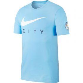 Manchester City Swoosh T-Shirt - Light Blue