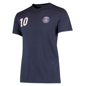 Paris Saint-Germain Neymar Jr Player T-Shirt - Navy - Mens