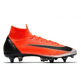 Nike Mercurial Superfly 6 Elite CR7 Anti-Clog Soft Ground Pro Football Boots - Red
