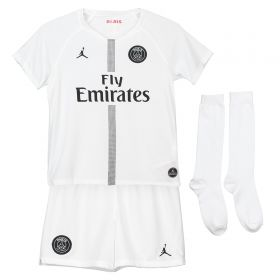 Paris Saint-Germain Third Away Stadium Kit 2018-19 - Little Kids with Silva 2 printing