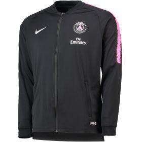 Paris Saint-Germain Squad Tracksuit - Black