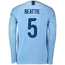 Manchester City Home Cup Stadium Shirt 2018-19 - Long Sleeve with Beattie 5 printing