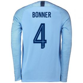 Manchester City Home Cup Stadium Shirt 2018-19 - Long Sleeve with Bonner 4 printing