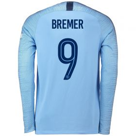 Manchester City Home Cup Stadium Shirt 2018-19 - Long Sleeve with Bremer 9 printing