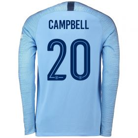 Manchester City Home Cup Stadium Shirt 2018-19 - Long Sleeve with Campbell 20 printing