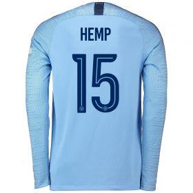 Manchester City Home Cup Stadium Shirt 2018-19 - Long Sleeve with Hemp 15 printing