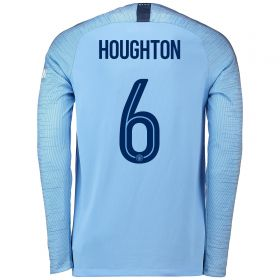 Manchester City Home Cup Stadium Shirt 2018-19 - Long Sleeve with Houghton 6 printing