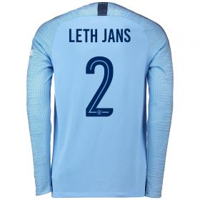 Manchester City Home Cup Stadium Shirt 2018-19 - Long Sleeve with Leth Jans 2 printing