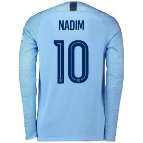 Manchester City Home Cup Stadium Shirt 2018-19 - Long Sleeve with Nadim 10 printing