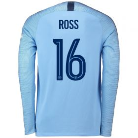 Manchester City Home Cup Stadium Shirt 2018-19 - Long Sleeve with Ross 16 printing