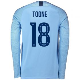 Manchester City Home Cup Stadium Shirt 2018-19 - Long Sleeve with Weir 19 printing