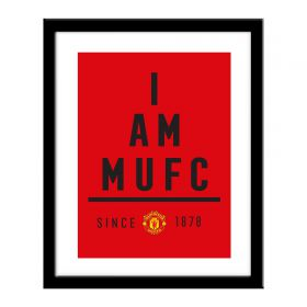 Manchester United Personalised I Am MUFC Print